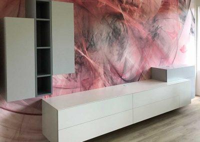 hangend tv meubel op maat grijs