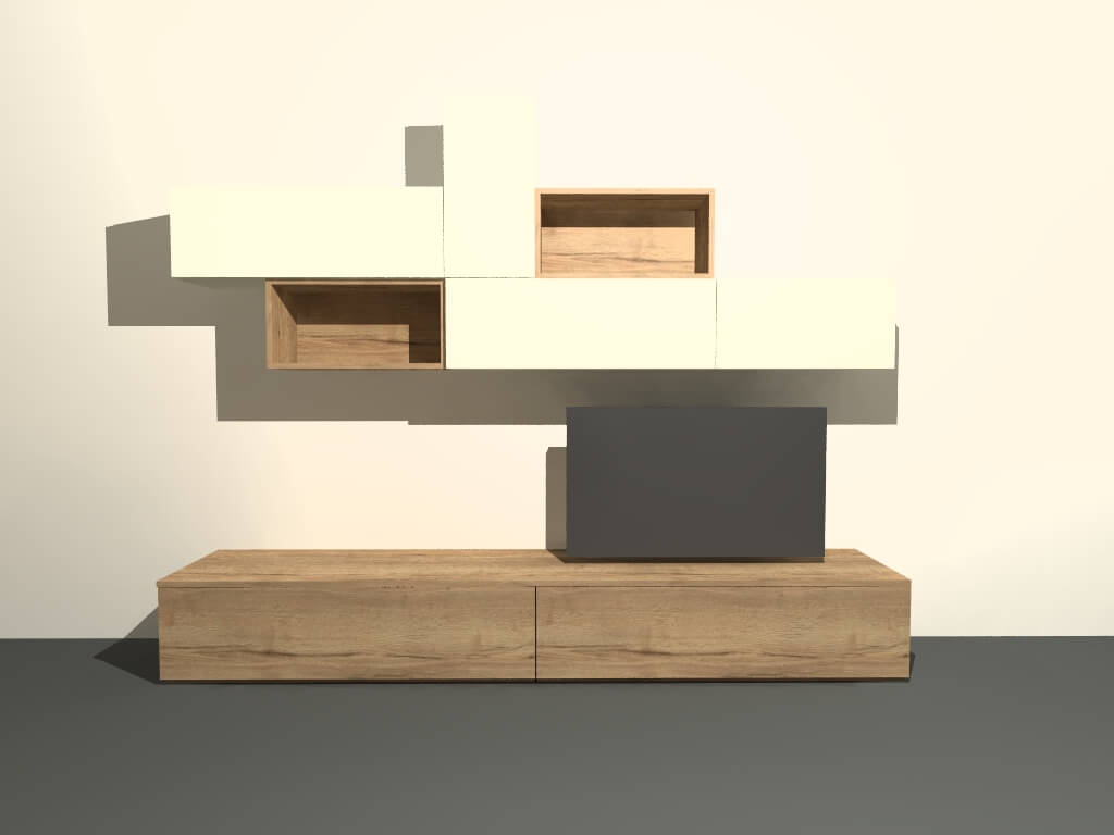 modulair tv meubel M403 op maat