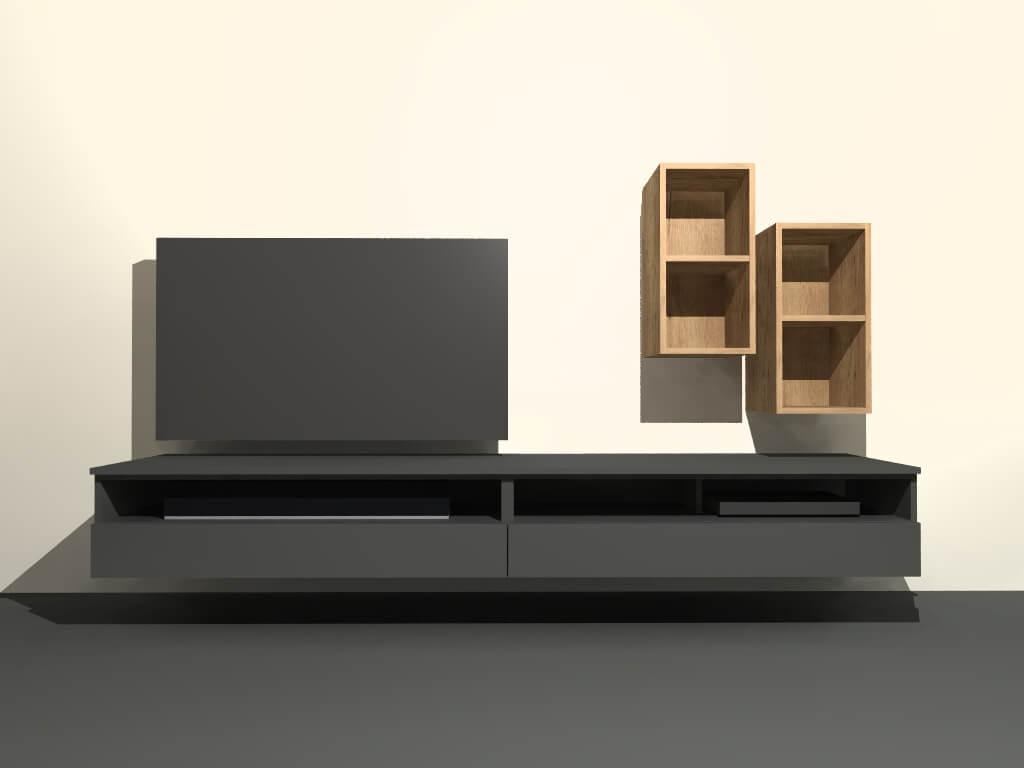 modulair tv meubel M406 op maat