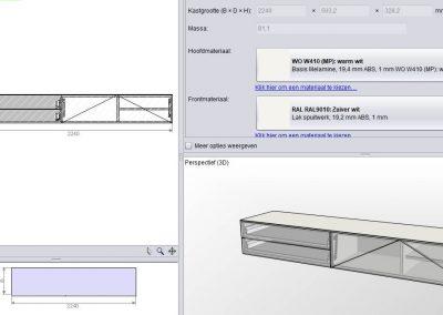 tv meubel hangend model H132