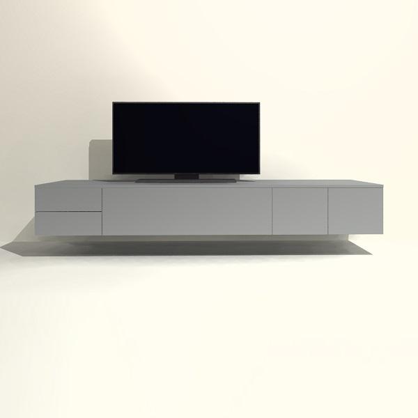 Tv Meubel 125.Tv Meubel Hangend H06 Met Deur Klep En Lade Tv Meubel Op Maat Shop