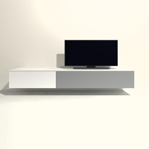 Tv Meubel Ophangen.Tv Meubel Hangend H02 Met Kleppen Tv Meubel Op Maat Shop